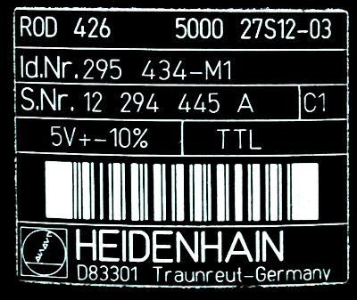 HEIDENHAIN R0D4265000 label image