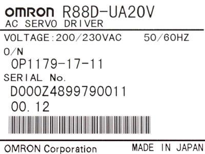 Omron R88D-UA20V label image