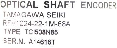 Mitsubishi RFH1024-22-1M-68A label image
