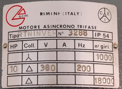 SCM Group RTNINVER label image