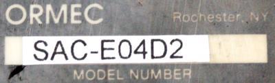 Ormec SAC-E04D2 label image