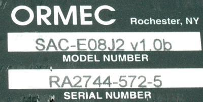 Ormec SAC-E08J2 label image