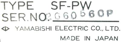 Yamabishi Electric SF-PW label image