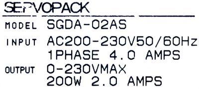 Yaskawa SGDA-02AS label image