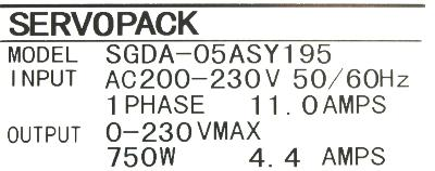 Yaskawa SGDA-05AS-Y195 label image