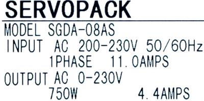Yaskawa SGDA-08AS label image