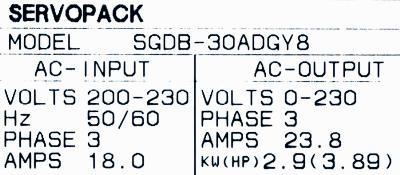 Yaskawa SGDB-30ADG-Y8 label image