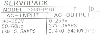 Yaskawa SGDG-04GT label image
