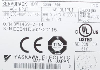 Yaskawa SGDH-15DE label image