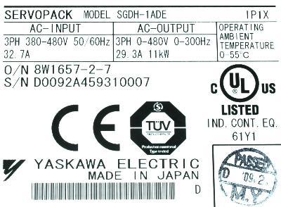 Yaskawa SGDH-1ADE label image