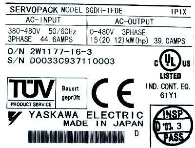 Yaskawa SGDH-1EDE label image