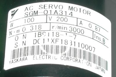 Yaskawa SGM-01A314 label image