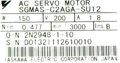 Yaskawa SGMAS-C2AGA-SU12 label image