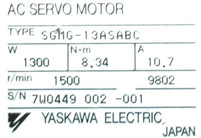 Cnc Servo Motors Yaskawa Sgmg 13asabc Motors Ac Servo