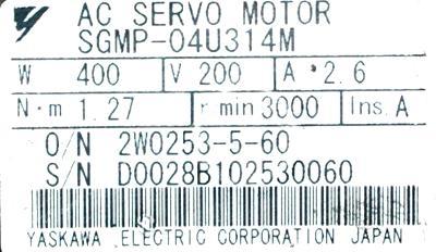 New Refurbished Exchange Repair  Yaskawa Motors-AC Servo SGMP-04U314M Precision Zone