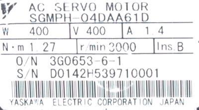 Yaskawa SGMPH-04DAA61D label image