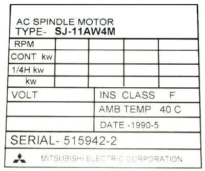 Mitsubishi SJ-11AW4M label image