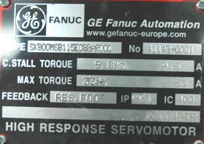 GE FANUC SK800MSB115E088AR000 Motors-AC Servo