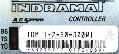 INDRAMAT TDM1.2-050-300-W1-115 label image