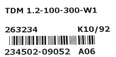 INDRAMAT TDM1.2-100-300-W1 label image