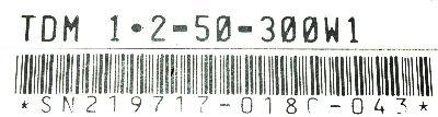 INDRAMAT TDM1.2-50-300-W1 label image