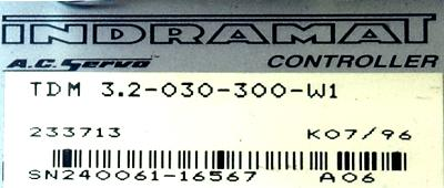 INDRAMAT TDM3.2-030-300-W1 label image