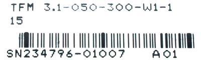 INDRAMAT TFM3.1-050-300-W1-115 label image