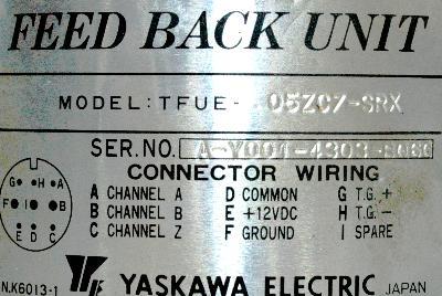 Yaskawa TFUE-05ZC7 label image