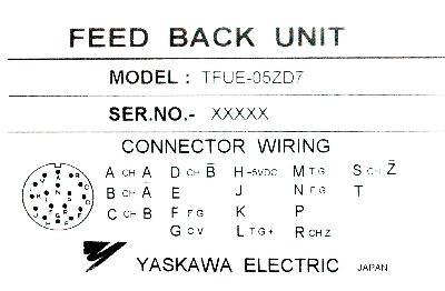 Yaskawa TFUE-05ZD7 label image