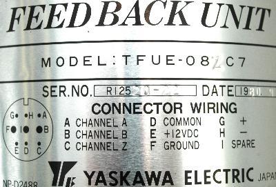 Yaskawa TFUE-08ZC7 label image