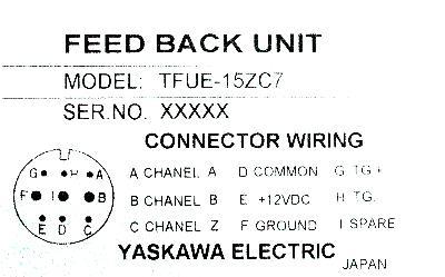 Yaskawa TFUE-15ZC7 label image
