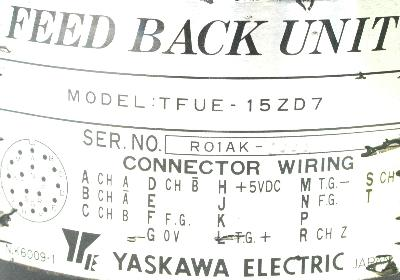 Yaskawa TFUE-15ZD7 label image