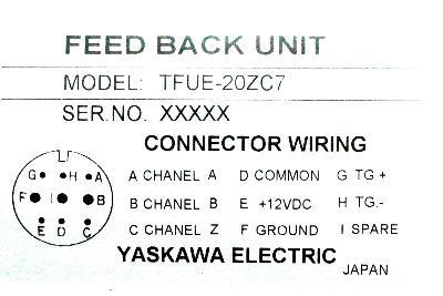 Yaskawa TFUE-20ZC7 label image