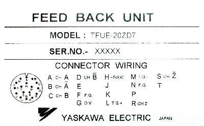 Yaskawa TFUE-20ZD7 label image