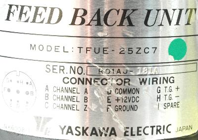 Yaskawa TFUE-25ZC7 label image