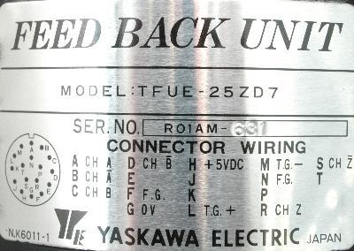 Yaskawa TFUE-25ZD7 label image
