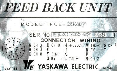 Yaskawa TFUE-30ZD7 label image