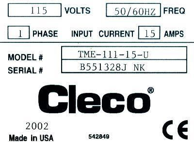 Cooper Tools TME-111-15-U label image