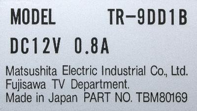 Matsushita TR-9DD1B label image