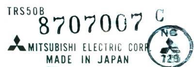 Mitsubishi TRS50B label image