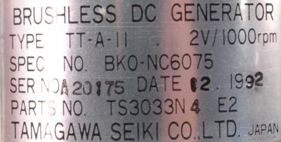 Tamagawa Seiki TS3033N4E2 label image