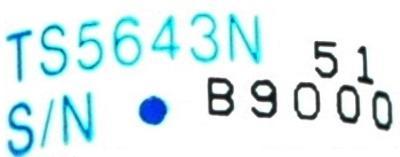 Tamagawa Seiki TS5643N label image