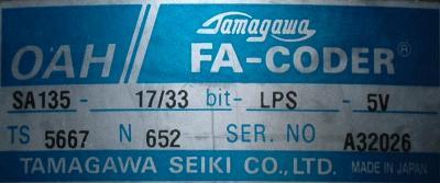 Tamagawa Seiki TS5667 label image