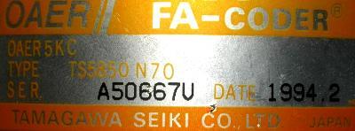 Tamagawa Seiki TS5850N70 label image