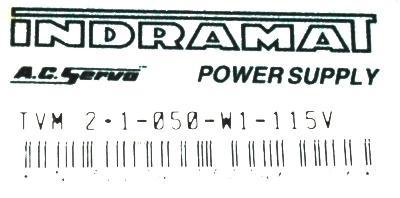 INDRAMAT TVM2.1-050-220-300-W1-115-220 label image