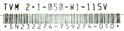 INDRAMAT TVM2.1-050-W1-115V label image