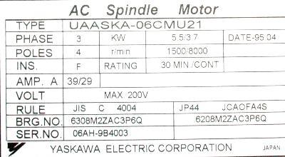 Yaskawa UAASKA-06CMU21 label image