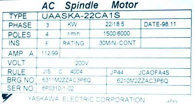 Yaskawa UAASKA-22CA1S label image