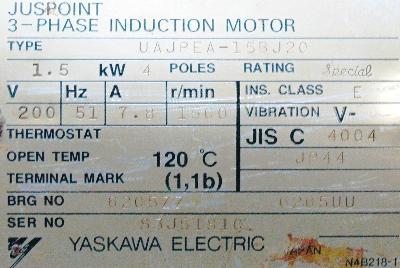 Yaskawa UAJPEA-15BJ20 label image