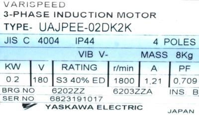 Yaskawa UAJPEE-02DK2K label image